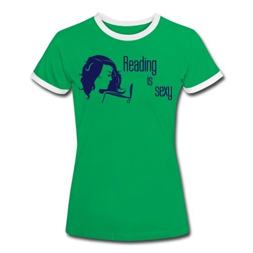 Reading is sexy Shirt - Frauen Kontrast-T-Shirt