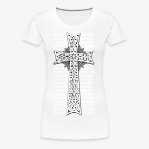 Armenisches Kreuz / Armenian Cross - Name Jesus Christus in vielen Sprachen - Herren T-Shirt - Frauen Premium T-Shirt