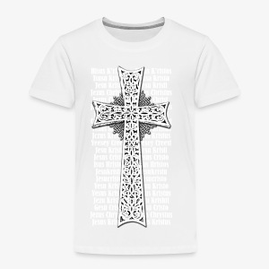 Armenisches Kreuz / Armenian Cross - Name Jesus Christus in vielen Sprachen - Herren T-Shirt - Kinder Premium T-Shirt