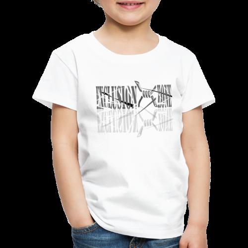 Weißes Frauen Übergrößenshirt,  Exclusion Zone, - Kinder Premium T-Shirt