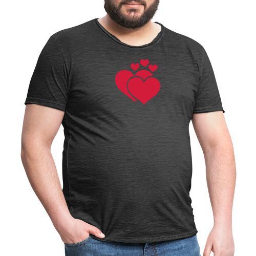 T-shirt Femme Famille de coeur - Family of hearts. - T-shirt vintage Homme