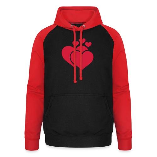 T-shirt Femme Famille de coeur - Family of hearts. - Sweat-shirt baseball unisexe