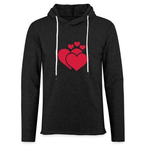T-shirt Femme Famille de coeur - Family of hearts. - Sweat-shirt à capuche léger unisexe
