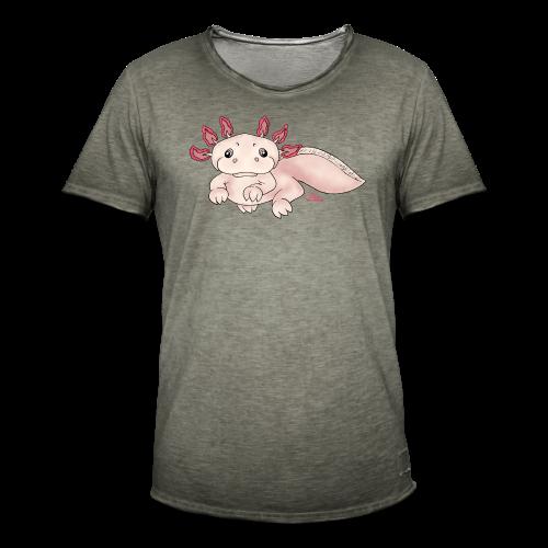 Axenia Axolotl  - Männer Vintage T-Shirt