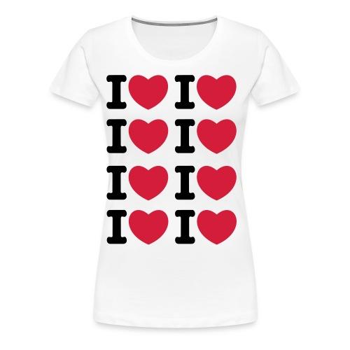 I heart I heart I heart - Frauen Premium T-Shirt