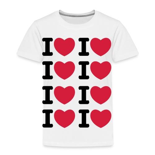 I heart I heart I heart - Kinder Premium T-Shirt