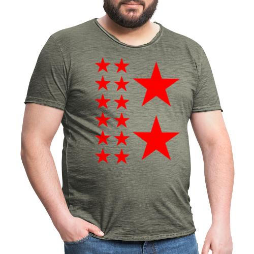 Red Stars T-shirt Homme. - T-shirt vintage Homme