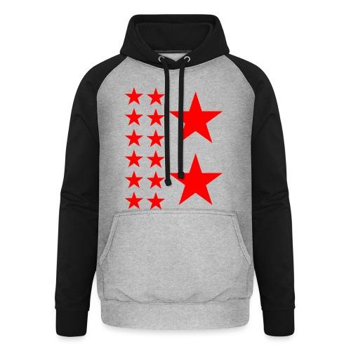 Red Stars T-shirt Homme. - Sweat-shirt baseball unisexe