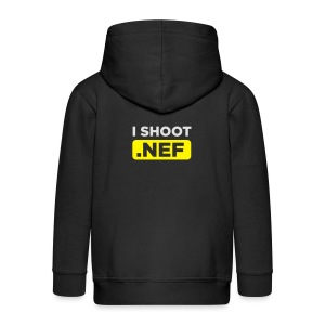 I SHOOT NEF - Kinder Premium Kapuzenjacke