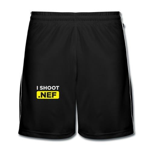 I SHOOT NEF - Männer Fußball-Shorts