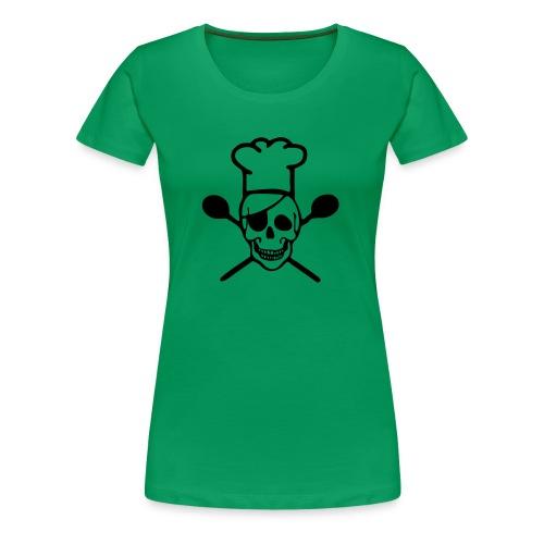 Frauen Premium T-Shirt - Chefkoch,Koch,Skull,Totenkopf