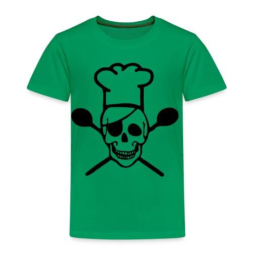 Kinder Premium T-Shirt - Chefkoch,Koch,Skull,Totenkopf