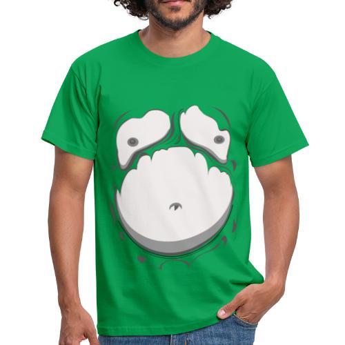 Comic Fat Belly Monotone, beer gut, beer belly, chest t-shirt - Men's T-Shirt