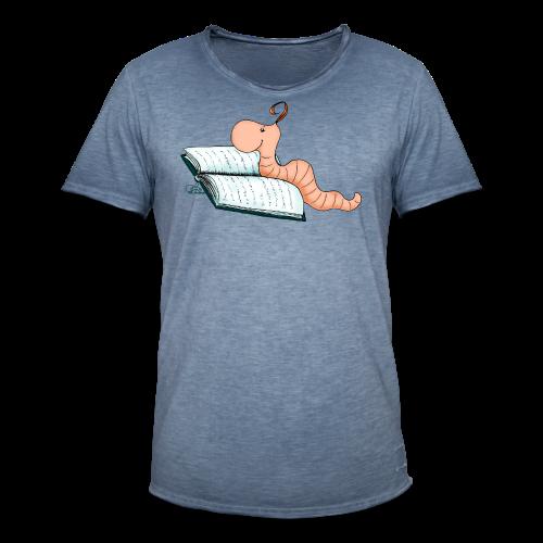 Bücherwurmi Willi - Männer Vintage T-Shirt