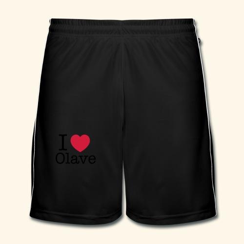 I ♥ Olave - Mädls - Männer Fußball-Shorts