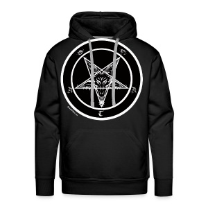 Black men's pentagram t-shirt - Men's Premium Hoodie