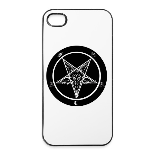 Black men's pentagram t-shirt - iPhone 4/4s Hard Case