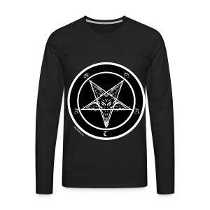 Black men's pentagram t-shirt - Men's Premium Longsleeve Shirt