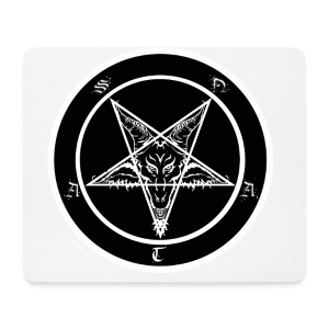 Black men's pentagram t-shirt - Mouse Pad (horizontal)