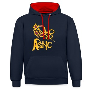 ASNC Society Brooch Logo - Women's - Contrast Colour Hoodie