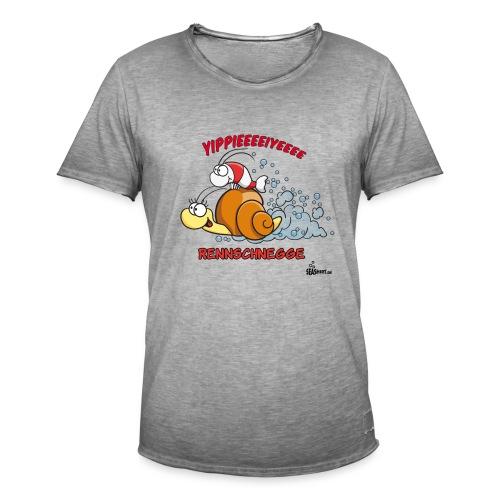 Rennschnegge - Männer Vintage T-Shirt