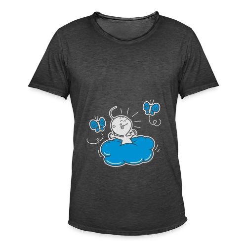 Damesshirt Wolkje - Mannen Vintage T-shirt