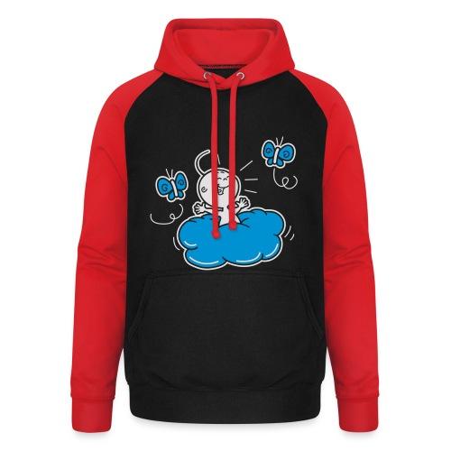 Damesshirt Wolkje - Unisex baseball hoodie