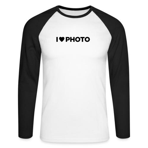 I LOVE PHOTO - Männer Baseballshirt langarm
