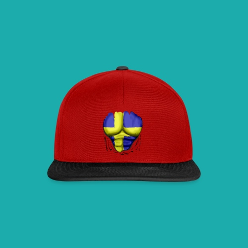 Sweden Flag Ripped Muscles, six pack, chest t-shirt - Snapback Cap