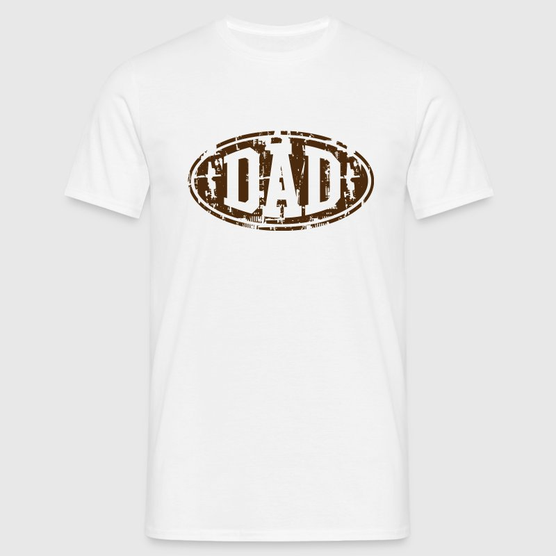 DAD Vintage Design T-Shirt Brown - Men's T-Shirt