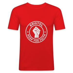 Bristol Keep Faith - T - Men's Slim Fit T-Shirt