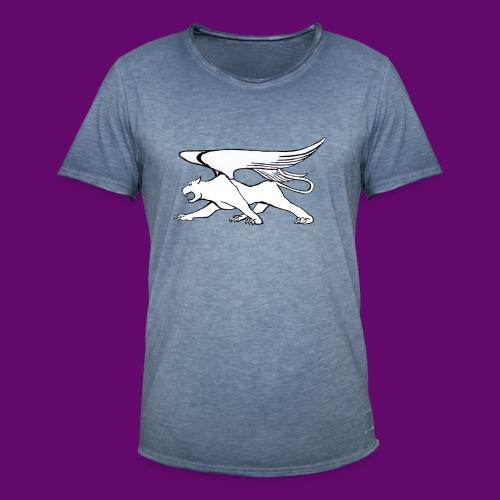 Panthère Blanche ailée (création Louis RUNEMBERG) - T-shirt vintage Homme