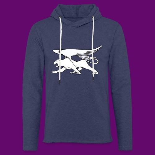 Panthère Blanche ailée (création Louis RUNEMBERG) - Sweat-shirt à capuche léger unisexe