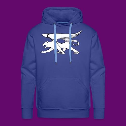 Panthère Blanche ailée (création Louis RUNEMBERG) - Sweat-shirt à capuche Premium pour hommes