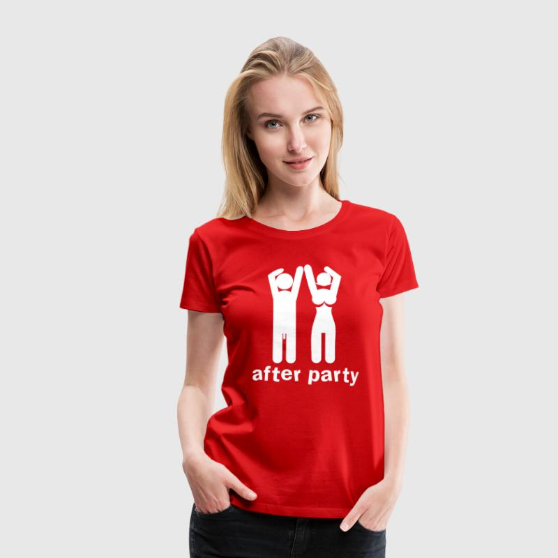 after party naked man and woman with willy and boobs T-Shirts - Women's Premium T-Shirt