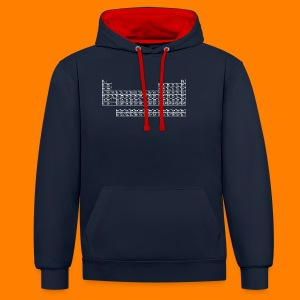 Women's classic tee with Periodic Table - Contrast Colour Hoodie