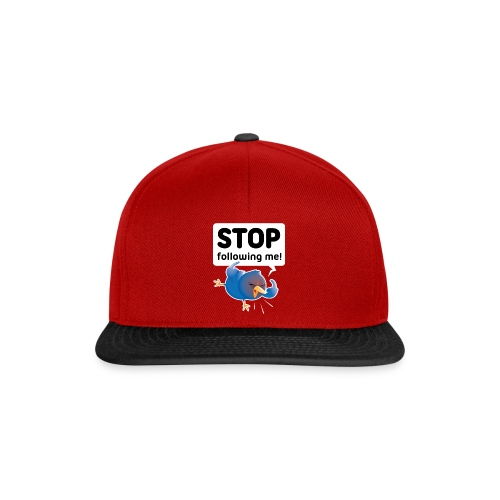 Stop following me (voorkant) - Snapback cap