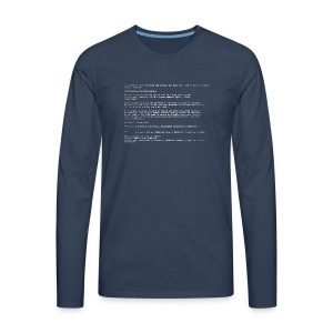 Blue Screen - Men's Premium Longsleeve Shirt