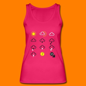 Weather Forecast Girlie Top - Women's Organic Tank Top by Stanley & Stella