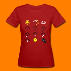 Weather Forecast Girlie Top - Women's Organic T-shirt