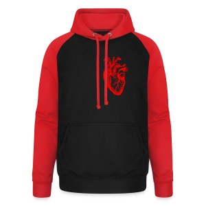 I love / I heart Herz Anatomy  T-Shirts - Unisex Baseball Hoodie