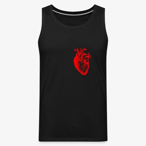 I love / I heart Herz Anatomy  T-Shirts - Männer Premium Tank Top
