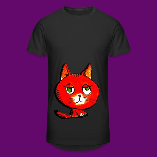 chats - T-shirt long Homme