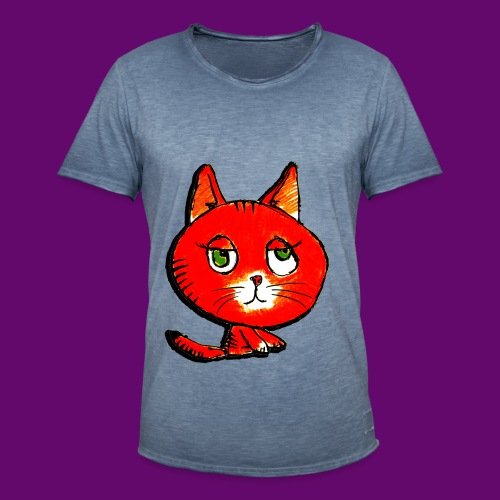 chats - T-shirt vintage Homme
