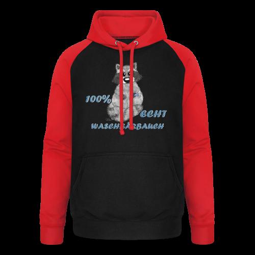 Waschbärbauch reloaded (extragroß) - Unisex Baseball Hoodie