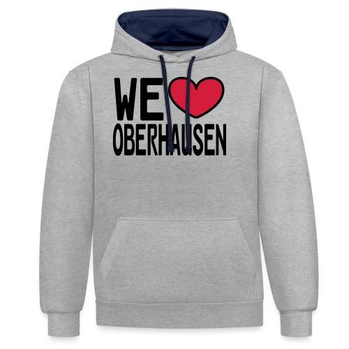 WE ♥ OBERHAUSEN - Shirt klassisch - Kontrast-Hoodie