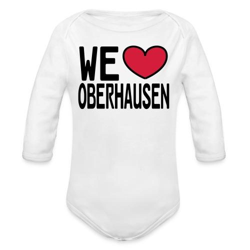WE ♥ OBERHAUSEN - Shirt klassisch - Baby Bio-Langarm-Body