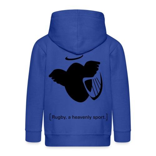 Männer T-Shirt Motiv: A heavenly sport. - Kinder Premium Kapuzenjacke