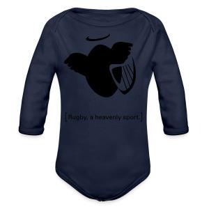 Männer T-Shirt Motiv: A heavenly sport. - Baby Bio-Langarm-Body