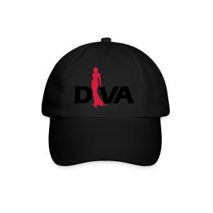 Diva Figure - Gold Glitter - Black - Baseball Cap